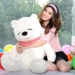 ตุ๊กตาหมีหลับ ตัวใหญ่ ขนาด 1.2 เมตร สีขาว