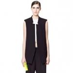 [Preorder] เสื้อสูทแฟชั่นแขนกุด แบรนด์ ZARA สีดำ (ไซส์ S M L) European Grand Prix 2014 spring and summer new ZARA MICN chest vest vest vest jacket waistcoat jacket Spring