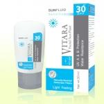 Vitara Facial Sun Fluid SPF30 Sensitive 30 ml ฟลูอิดป้องกันแสงแดด สำหรับผิวหน้า สูตรอ่อนโยน
