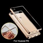 เคสบัมเปอร์ยางนิ่ม ขอบสีโครเมี่ยม Huawei P8