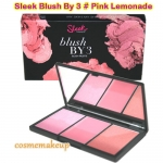 SLEEK BLUSH By 3 สี Pink Lemonade เป็นพาเลททีมาพร้อมบรัชเนื้อแป้งและเนื้อครีม ใน3 เฉดสีในตลับเดียวกัน ติดทนมากขึ้น โทนสีชมพู น่ารัก ใสๆ เลยค่ะ