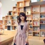 เดรสชีฟองคอวีสีชมพู (ไม่มีเกาะอกนะค่ะ) V-neck big skirt spell color dress