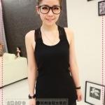 เสื้อกล้ามแฟชั่นสีดำ new beautiful crochet openwork summer wild the word Korean version of the new vest a small tape (Preorder)