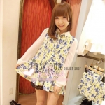 [Preorder] เสื้อชีฟองแฟชั่นลายดอกไม้จากนิตยสาร VIVI แบรนด์ LENA สีขาว Floral Flower Chiffon Long Shirt