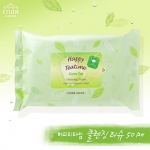 Etude House Happy Teatime Green Tea Cleansing Tissue (50 Sheet)