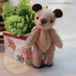 ตุ๊กตาหมีผ้าสักกะหลาดขนาด 7.5 cm. - BeanBear Cutwork