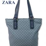 กระเป๋าถือ Zara Basic ลายดาว