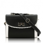 [Preorder] กระเป๋าสะพายข้างแฟชั่นเก๋ๆ สไตล์ Retro สีดำ 2013 new handbag shoulder bag handbag Messenger bag handbags Korean sweet little fresh influx of women bags