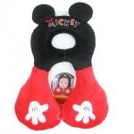 หมอนรองคอเด็ก   mickey mouseสำหรับ 1-4 ขวบ ผ้าเนื้อนุ่ม ระบายอากาศดี รองคอแล้วน้องจะนั่ง Carseat สบายขึ้นค่ะ