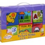 หนังสือผ้า 2 ภาษา ยี่ห้อ itty-bitty (1 ชุด มี 6 เล่ม)