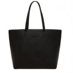 พร้อมส่ง MNG soft PU leather tote สีดำ