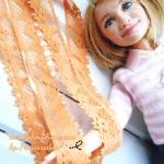 ลูกไม้แบบยางยืด กว้าง1 cm สีส้ม