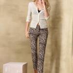 ❤❤ พร้อมส่งค่ะ ❤❤ Victoria's Secret The Frankie Trouser in Crepe leopard