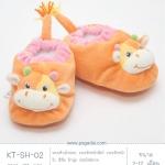 รองเท้าเด็กอ่อน 2-12 เดือน สีส้ม ลายวัวน้อย