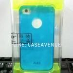 LZ เคสแข็งแบบเห็นตัวเครื่อง iphone4/4s สีน้ำเงิน ขอบด้านหน้าเป็นอะลูมิเนียม