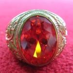 สินค้าหมดค่ะ แหวนพลอยทับทิมแดงเนื้อทองเหลือง(ราศีกรกฎ)แบบเล็กค่ะ