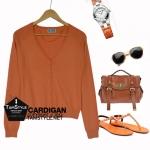 Coat-241 เสื้อคลุมสีน้ำตาลอิฐ กระดุมธรรมดา ผ้านิ่ม ใส่สบาย งานพอๆกับ Zara อก 36 นิ้วยาว 23 นิ้ว (สินค้าพร้อมส่ง)
