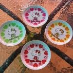 พร้อมส่ง set เดียวนะคะ Sanrio Japan Hello Kitty จานเล็กสำหรับใส่ขนม/ของว่าง set 4 ใบค่ะ