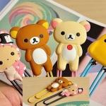 [Preorder] คลิปติดกระดาษลายสัตว์น้อยน่ารัก คละแบบ Korea Stationery lovely easily bear worries rabbit oversized paperclip bookmarks (10 อัน/แพ็ค)