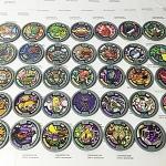 เหรียญ DX Yo-Kai Watch สีเทา Set 34 เหรียญ ไม่ซ้ำแบบ มือสอง