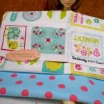 ผ้าอเมริกา50x45 cm+ผ้าคอตตอนหาในไทย 25x55 cm