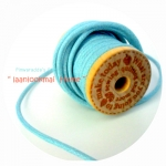 LC1 :เชือกหนัง-สีฟ้า ราคาต่อ 1 m คร้า