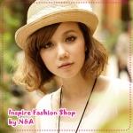 [Preorder] หมวกแฟชั่นประดับโบว์และไข่มุกสีกาแฟ 2012 new summer models special yarn lace Zhuhua butterfly knot rattan skullcaps