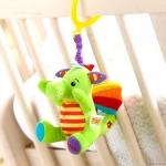 ไดโนเสาร์ : ตุ๊กตาผ้านุ่มนิ่ม แขวนเตียงเด็ก ให้เสียงกระพรวนไพเราะชื่นใจ ผ้าลื่น ให้สัมผัสแตกต่างพัฒนาสมอง