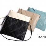 (Preorder พฤศจิกายน 57) MNG Quilted Rivet Envelope Messenger Bag