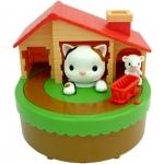 แมวจับหนู Sutakora Cat and Mouse Coin Bank Cat and Mouse Moving Money Box Piggy Bank ของเล่นส่งเสริมนิสัยการออม ขนาดสินค้า 13.9 x 12.4 x 13.9 cm. กระปุกออมสินแมวหนู