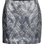 ♥♥พร้อมส่งค่ะ♥♥ H&M Short Silvery Skirt กระโปรงสีเงิน ลายสวย หรูหรา ไฮโซ