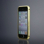Bumper iPhone 4/4S, Swarovski Gold Frame