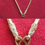 สินค้าหมดค่ะ สร้อยคอทองลายกระดูกงูกลมทำจากเหรียญ25,50ส.ต(ใส่พระได้ 1 องค์)ค่ะ