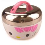 so cute Hello Kitty กล่องข้าวstainless เก็บอุณหภูมิ 2 ชั้น ขนาด 1 ลิตร พร้อมกล่อง