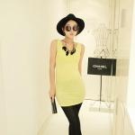 [Preorder] เดรสแฟชั่นแขนกุดสำหรับสาวไซส์เล็ก สีเหลือง 2013 summer new super wild multicolor Korean Women Long Vest