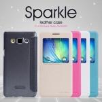 เคสหนังฝาพับ Samsung Galaxy A5 ยี่ห้อ Nillkin Sparkle Leather