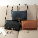 (Preorder พฤศจิกายน 57) H&M soft leather envelope clutch bag