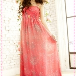 [Preorder] Maxi dress สุดเก๋ลายดอกไม้สีชมพู 2012 spring and summer new Bohemian Chiffon dress