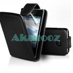 เคสหนังผิวด้าน LG Optimus L3 [E400] รุ่น Flip Leather Case