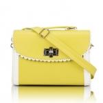 [Preorder] กระเป๋าสะพายข้างแฟชั่นเก๋ๆ สไตล์ Retro สี Lemon (เหลืองมะนาว) 2013 new handbag shoulder bag handbag Messenger bag handbags Korean sweet little fresh influx of women bags