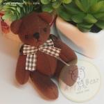 ตุ๊กตาหมีผ้าขูดขนสีน้ำตาลแดง ขนาด 9 cm. - Good