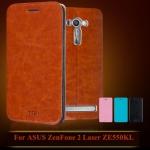 """เคสหนังฝาพับ Asus Zenfone 2 Laser (5.5"""") ยี่ห้อ MOFi Leather Slim"""