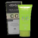 CC Cream35PA++ 40 ml.Sun Plant ครีมรองพื้น+เบส+กันแดด สีเขียว