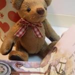 ตุ๊กตาหมีผ้าขนสีน้ำตาลขนาด 13 cm. - Herbie