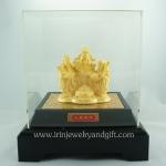 ฮกลกซิ่วพ่นทองทราย99.99% (พร้อมกล่องอคิริคใส+กล่องแดง)