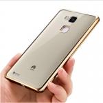 เคสบัมเปอร์ยางนิ่ม ขอบสีโครเมี่ยม Huawei Mate 7