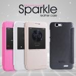 เคสหนังฝาพับ Huawei Ascend G7 ยี่ห้อ Nillkin Sparkle Leather