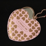 Coach heart mirror keychain