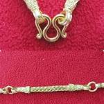 สินค้าจองค่ะ สร้อยคอทองลายกระดูกงูสี่เสาทำจากเหรียญ25,50ส.ต(ใส่พระได้ 5 องค์)ค่ะ
