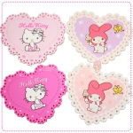 [Preorder] ที่รองแก้ว Hello Kitty และ Love melody hello kitty the love melody Gemini snoopy lace insulation pad coaster (8 อัน/แพ็ค)